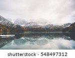 boats on lake water and... | Shutterstock . vector #548497312