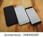 three modern mobile phone.... | Shutterstock . vector #548500285