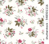 seamless floral pattern with... | Shutterstock .eps vector #548501116