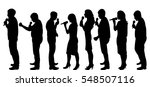 silhouettes of people singing... | Shutterstock .eps vector #548507116