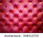 Luxury Red Sofa Leather Cushion ...