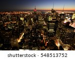 view of new york at dusk  usa | Shutterstock . vector #548513752