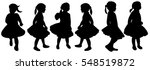 isolated  silhouette girl... | Shutterstock .eps vector #548519872