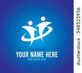 social relationship logo and... | Shutterstock .eps vector #548525956