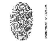 vector fingerprint sketch. hand ... | Shutterstock .eps vector #548526325