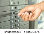 close up hand of a strong young ... | Shutterstock . vector #548530576