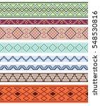 set of color ornate borders....   Shutterstock .eps vector #548530816