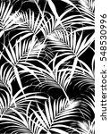 tropical leaves pattern in... | Shutterstock .eps vector #548530996