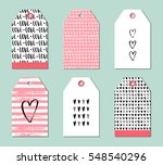 set of cute creative gift tags...   Shutterstock .eps vector #548540296