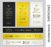 luxury style holiday sale... | Shutterstock .eps vector #548542462