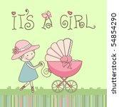 baby girl announcement | Shutterstock .eps vector #54854290