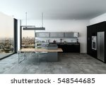 modern spacious open plan... | Shutterstock . vector #548544685