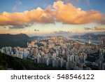 hongkong cityscape from top of... | Shutterstock . vector #548546122