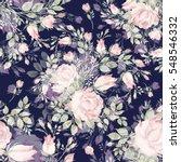 seamless pattern bouquet bud... | Shutterstock . vector #548546332