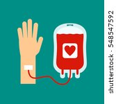 the concept of blood donation.... | Shutterstock .eps vector #548547592