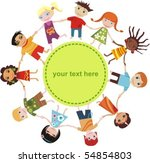 children card   Shutterstock .eps vector #54854803