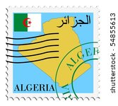 mail to from algeria | Shutterstock .eps vector #54855613