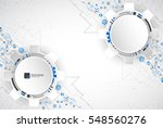 abstract technological... | Shutterstock .eps vector #548560276