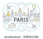 Flat Line Illustration Of Paris....