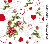 seamless floral background for... | Shutterstock .eps vector #548563846