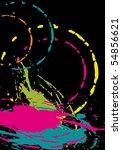 bright pattern on black...   Shutterstock .eps vector #54856621