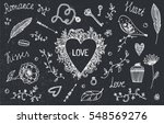 vector set of hand drawn... | Shutterstock .eps vector #548569276