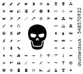 skull icon illustration... | Shutterstock .eps vector #548570932
