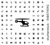 helicopter icon vector... | Shutterstock .eps vector #548574592