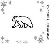 web line icon. bear  wild... | Shutterstock .eps vector #548582716
