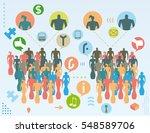 social media public opinion... | Shutterstock .eps vector #548589706