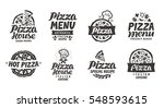 Pizza italian. Collection labels for menu design restaurant or pizzeria