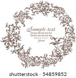 floral circle | Shutterstock .eps vector #54859852