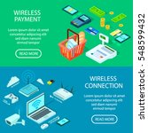 wireless connection and payment ... | Shutterstock .eps vector #548599432