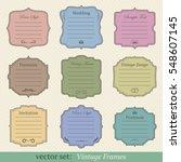 vector set of vintage frames on ... | Shutterstock .eps vector #548607145