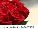 close up of red roses and water ...   Shutterstock . vector #548607952