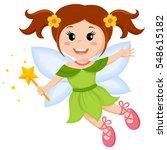 cute little fairy | Shutterstock .eps vector #548615182