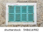 Turquoise Blue Wooden Shutters...