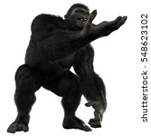 gorilla give some money 3d... | Shutterstock . vector #548623102