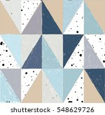 seamless pattern of triangles. ...