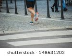 running in the street of milan... | Shutterstock . vector #548631202