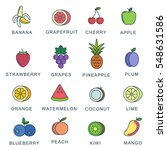 vector image. color fruit icon | Shutterstock .eps vector #548631586