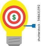 vector red bullseye and yellow... | Shutterstock .eps vector #548631592