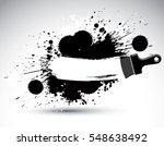 hand painted decorative grunge... | Shutterstock . vector #548638492