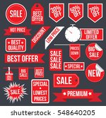 sale stickers set banners | Shutterstock .eps vector #548640205