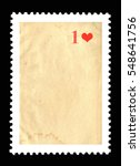 vintage blank postage stamp and ... | Shutterstock . vector #548641756