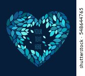 romantic heart shaped frame.... | Shutterstock .eps vector #548644765