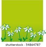 doodle flower background | Shutterstock .eps vector #54864787