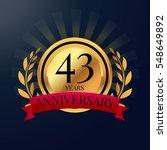 anniversary badge celebration | Shutterstock .eps vector #548649892