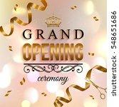 elegant shiny grand opening... | Shutterstock .eps vector #548651686