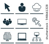 set of 9 world wide web icons.... | Shutterstock .eps vector #548661328